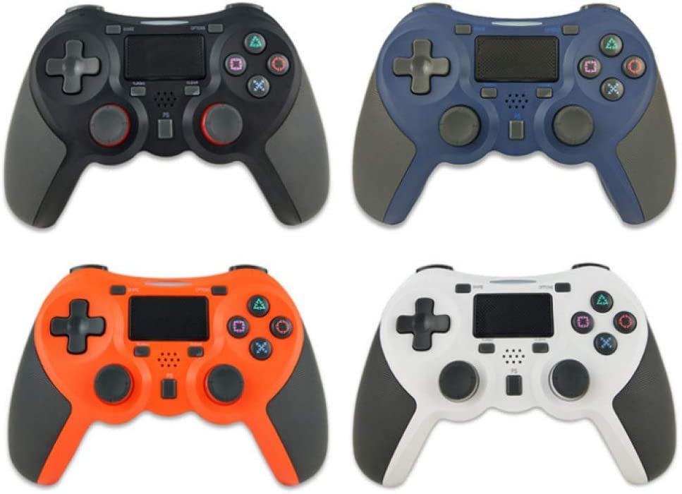 hyy PS4 Elite Controller Wireless Controller Dual Vibration Game Controller USB Joystick,Blue Blue