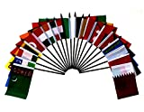 South Central Asia World Flag SET-20 Polyester