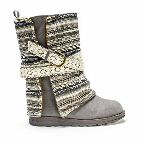 MUK LUKS Women's Nikki Boots - Grey (Sweater Boots 11 Size Womens)