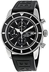 Breitling Superocean Heritage Automatic Chronograph Black Dial Black Rubber Mens Watch A1332024-B908BKPD3