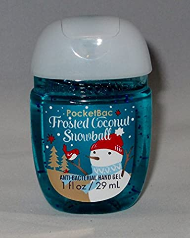 Bath & Body Works PocketBac Hand Gel Sanitizer Frosted Coconut Snowball