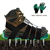 Lawn Aerator Shoes Heavy Duty Aerating Spiked