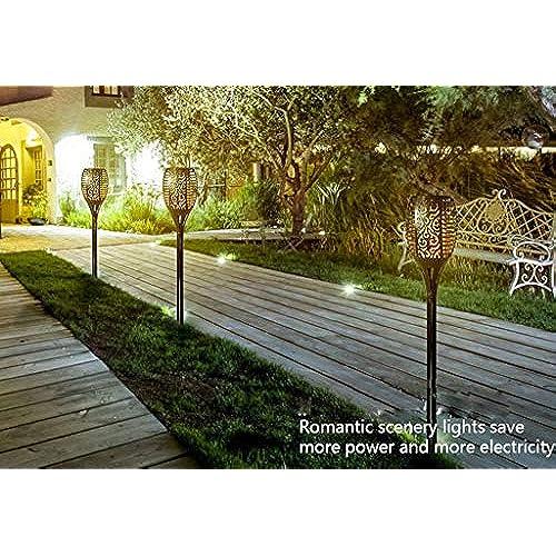 À Energie Éclairage Solaire Lampe Flamme Lumière Lfl Del Exterieur DH2EW9I