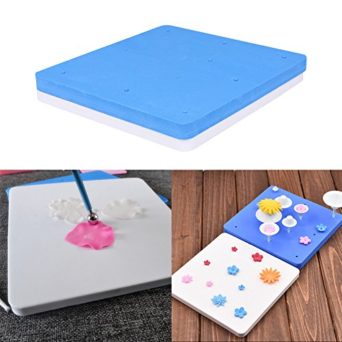 JD Million shop 2pcs/set 12 Holes Fondant Cake Mats Sponge Pad Kitchen accessaries Sugar Flowers Modelling Kitchen Bakeware Fondant Cake (Jane Iredale Flocked Sponge)