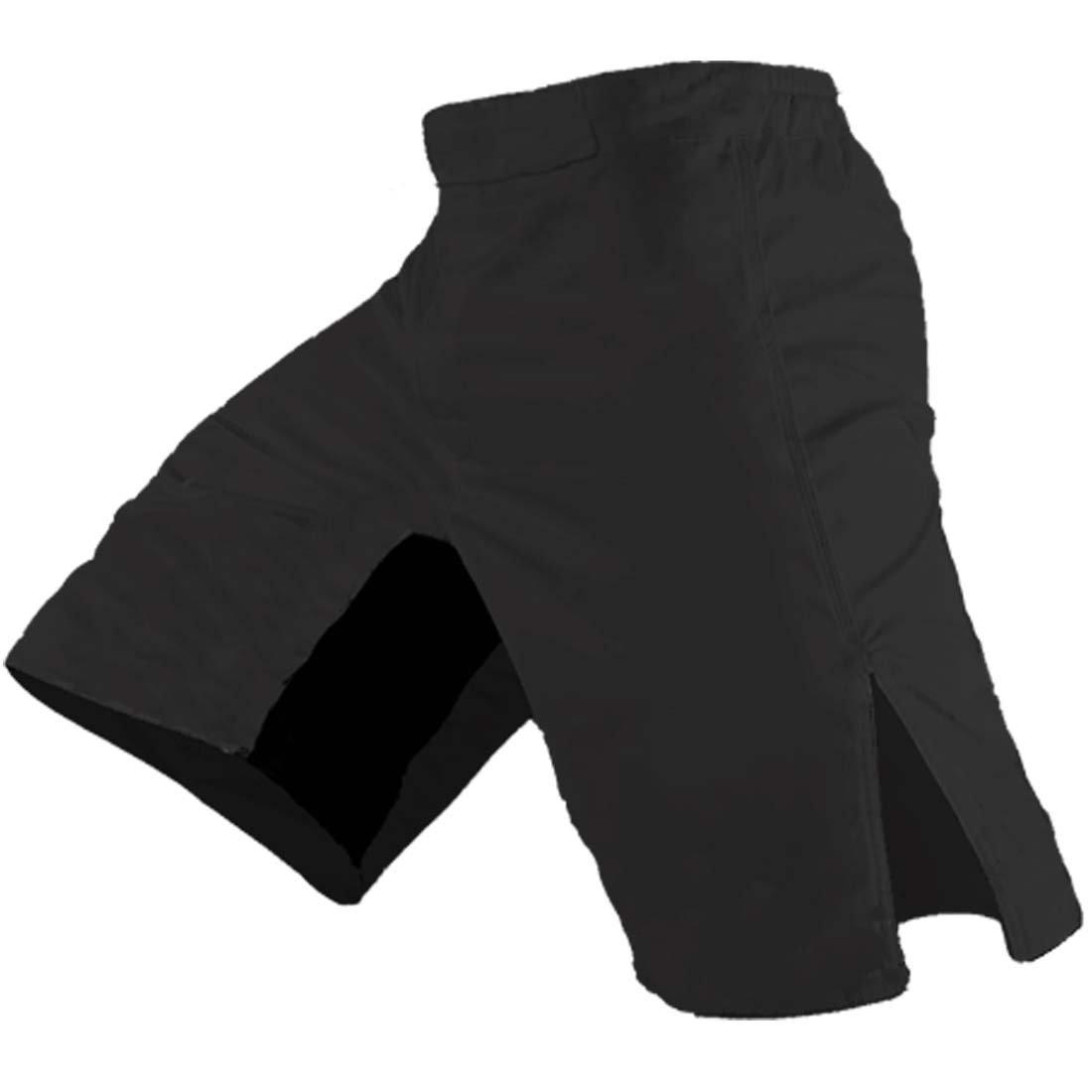 Epic MMA Gear Blank MMA Shorts (34, Black)