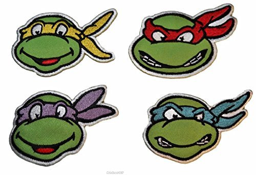 Teenage Mutant Ninja Turtles SET OF FOUR Characters Embroidered PATCHES -