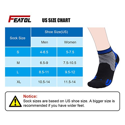 Large Product Image of Plantar Fasciitis Socks, Compression Socks with Ankle & Arch Support for Men and Women Foot & Heel Sleeves to Relieve Pains (1 Pair)