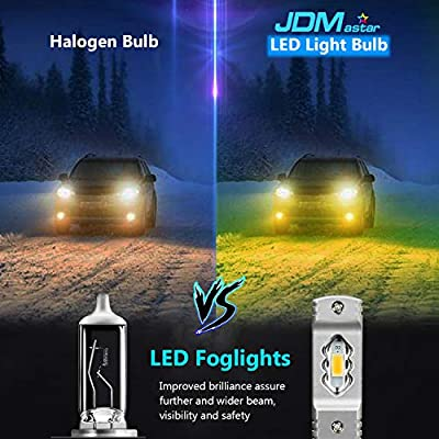 JDM ASTAR Super Bright High Power 2504 PSX24W LED Fog Light Bulbs, Golden Yellow: Automotive