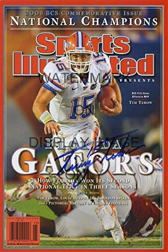 2008 Florida Gators Sports Illustrated Championship Autograph Replica Poster - Tim Tebow