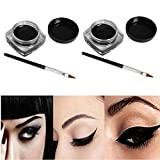 Nyx Eyebrow Gel Espresso 2 PCS Mini Eyeliner Gel Cream With Brush Makeup Cosmetic Black Life Waterproof E