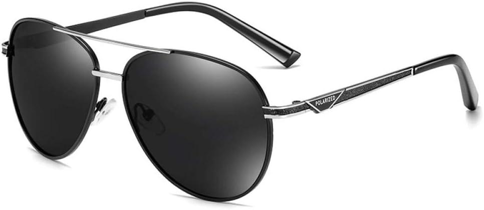 Sunglasses Gafas De Sol Polarizadas De Diseño De Marca Clásica para Hombre, Gafas De Sol para Conducir, Gafas De Sol con Revestimiento Metálico para Hombre, Sombras Uv400