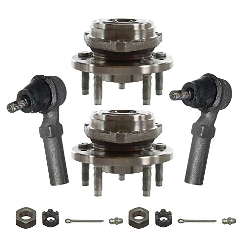 Prime Choice Auto Parts TRKHB30083158 2 Front Hub Bearings and 2 Front Outer Tie ()