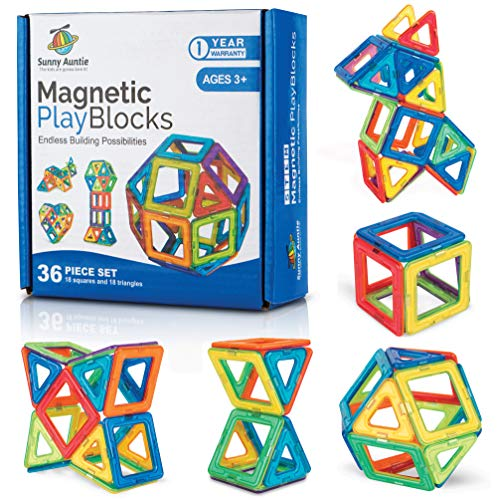 Magnetic Building Blocks Magnetic Tiles Set Toy for 3 4
