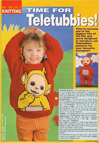 Childrens Adults Teletubbies Laa Laa Motif Sweater Po Toy
