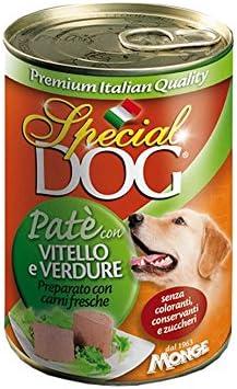 Special Dog Paté Becerro y verduras 400 g – Pack de 6 unidades)