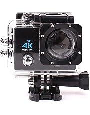 كاميرا اكشن رياضية فل اتش دي بدقة 4 كيه مع واي فاي اتش دي ام اي 1080 بكسل، بشاشة ال سي دي 2 بوصة، مضادة للماء، للاستخدام الخارجي والغوص