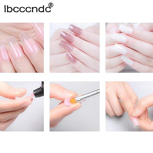 Clearance, squarex Poly Gel uñas postizas de larga duración líquido de doble extremo cepillo de uñas Pusher Dead Skin Set: Amazon.es: Belleza