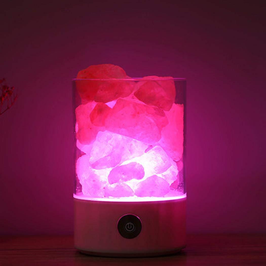 Bluefringe Night Light M2 Himalayan Crystal Salt Lamp Natural Negative Ion USB Charging Creative Gift by Bluefringe (Image #5)