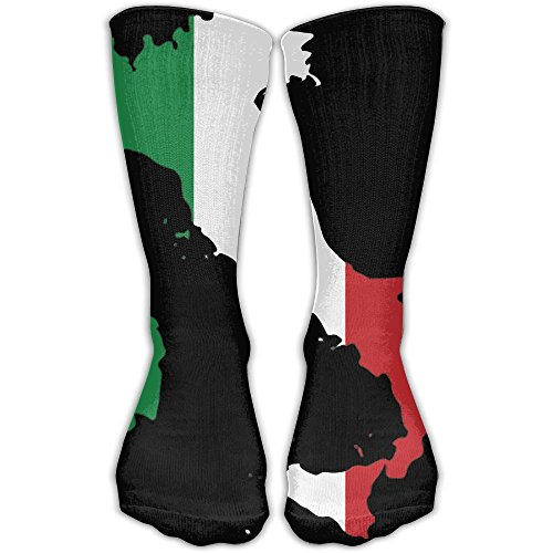 DaCrew Italy Flag Map Unisex Novelty Crew Socks Ankle Dress Socks Fits Shoe Size - Usps Shipping To Italy