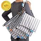Diaper Bag Organizer Pouches, 4 Mesh inserts and 1 Wet bag, Set of 5 Versatile Files - Gadikat Baby Shower Gift Set (Harbor Stripe)