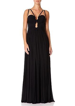 d849bcc7a66d Forever Unique - LEIA - Black Directional Ruched Maxi Dress 10 ...