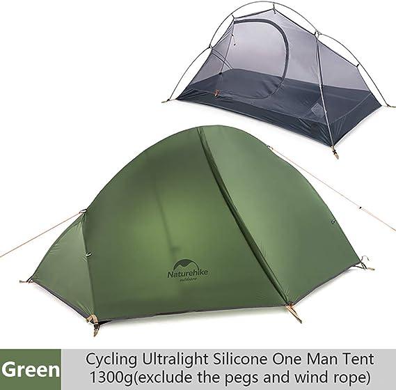 iBasingo Tienda Camping Carpa Ultraligera Individual Capa Doble Montar en el Exterior Carpa Impermeable contra el Agua Tormenta para excursiones de ...