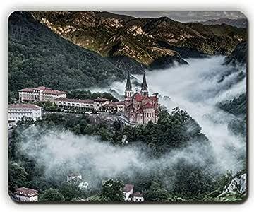 Yanteng Alfombrilla de ratón, Pueblo de montaña, covadonga España ...
