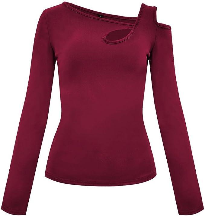 Ladies Tops Clearance,KIKOY Three Quarter Sleeve Irregular Hem Casual Flare Tunic Blouse Shirt
