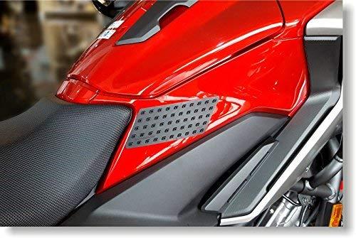 Quattroerre 18109/Protection R/éservoir antid/érapant Moto lat/érale Race Grip Evo Lot de 2