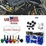 Motorcycle Complete Fairing Bolt Screws Kit Fasteners Black M5 M6 For Yamaha YZFR125 YZF R125 2008-2015