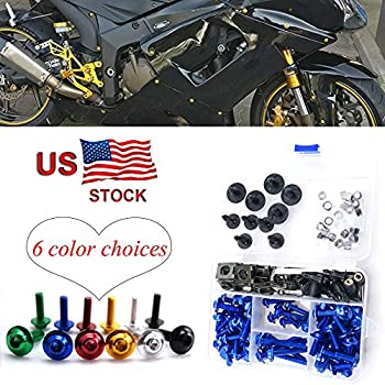 For KTM RC390 2014 2015 2016 CNC Alloy Complete Fairing Bolt Kit Screws Bodywork