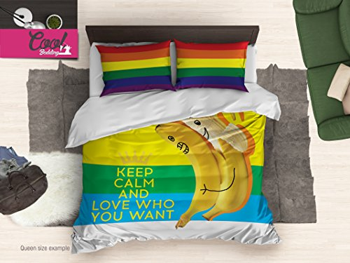 Gay Pride Duvet Cover, Funny Bedding, Same Sex Bedroom decor 132 (King 104''x92'') by Cool Bedding