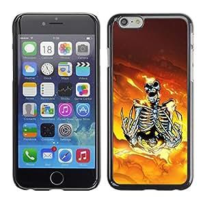 Caucho caso de Shell duro de la cubierta de accesorios de protección BY RAYDREAMMM - iPhone 6 - Skeleton Warrior