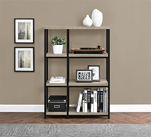 Ameriwood Home Elmwood Bookcase, Weathered Oak
