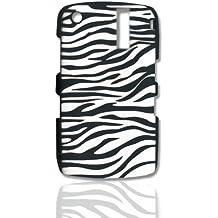 CellAllure Silicone Protector for Blackbery Curve 8300, 8310, 8320, and 8330 - Zebra Black/White