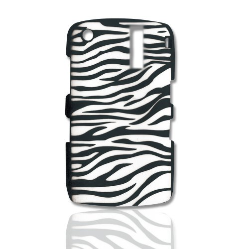 CellAllure Silicone Protector for Blackbery Curve 8300, 8310, 8320, and 8330 - Zebra Black/White