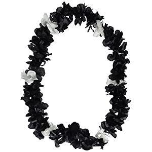 Silk 'N Petals Elegance Lei (black & white) Party Accessory  (1 count) 36