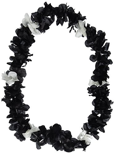Silk 'N Petals Elegance Lei (black & white) Party Accessory  (1 count)