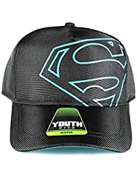 61f00471f78 DC Comics Off-Center Black Logo Youth Snapback Baseball Cap Hat