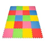 Toys : Angels 20 XLarge Foam Mats Toy ideal Gift, Colorful Tiles Multi Use, Create & Build A Safe PLay Area Interlocking Puzzle eva Non-Toxic Floor for Children Toddler Infant Kids Baby Room & Yard Superyard