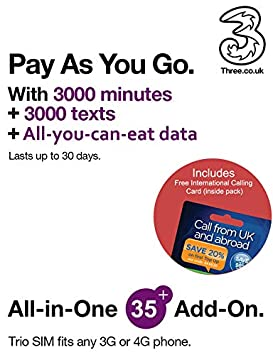 EE 4G 20GB UK PAYG Trio Data SIM International Calling Card - Mobile Broadband -20GB Love2surf RETAIL PACK