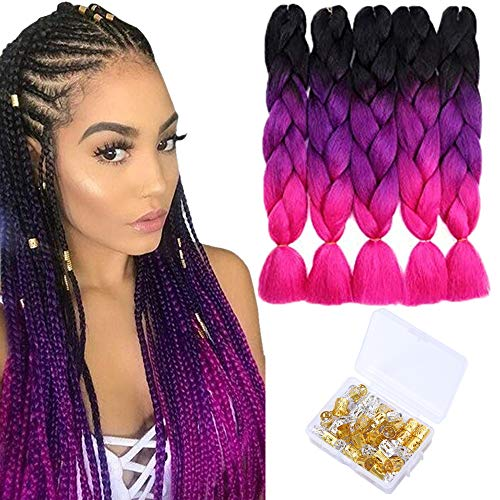 Braiding Synthetic Braids Extensions Purple product image
