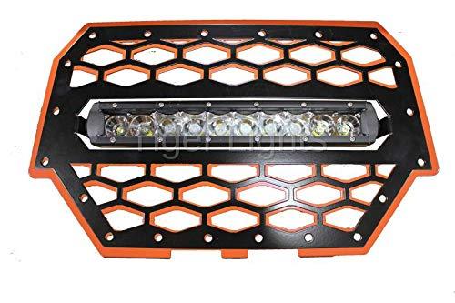 (Polaris RZR 900/1000 Orange Grille Light & 10