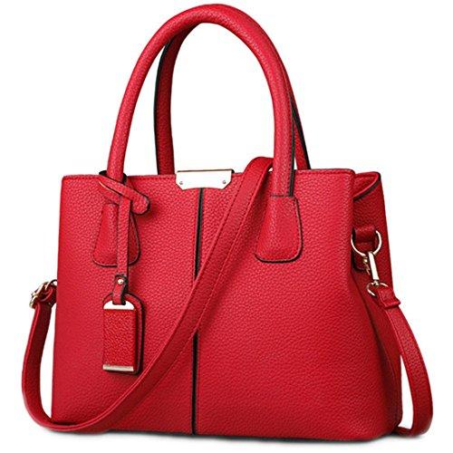 Bolso de Crossbody del bolso del bolso de hombro de las mujeresHB001 azul profundo 30cm Wine Red