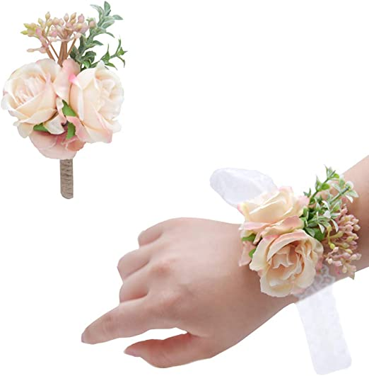 Rose Feather Flower Brooch Lapel Pin Corsage Pink Set 4