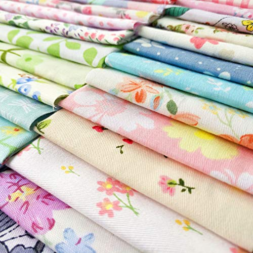 240pcs Fabric Squares Sheets Lovely Floral Pattern Pack Assorted Sewing Quilting Fabric for Craft 4