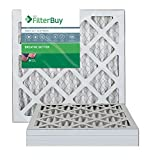 FilterBuy 18x18x1 MERV 13 Pleated AC Furnace Air Filter, (Pack of 4 Filters), 18x18x1 – Platinum