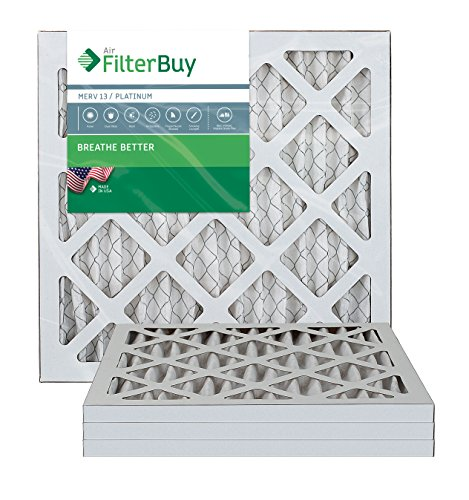 AFB Platinum MERV 13 12x18x1 Pleated AC Furnace Air Filter. Pack of 4 Filters. 100% produced in the USA.