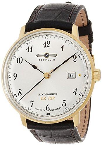 ZEPPELIN watch Hindenburg Silver dial Date 7044-4 Men's [regular imported goods]