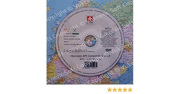 Mercedes Comand APS NTG1 - Mapas de Carretera para DVD 2018, Color ...